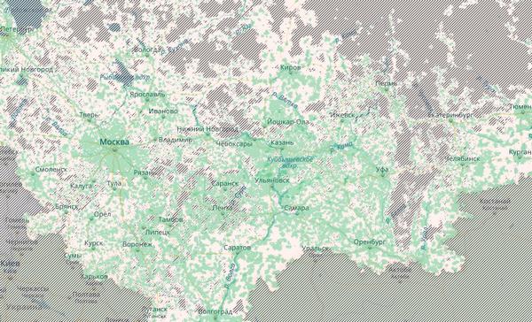 3G интернета выделен зеленым цветом.
