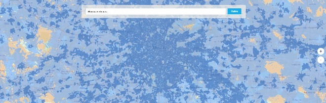Карта покрытия Yota в Московской области