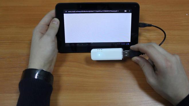 Подключение модема Yota к планшету