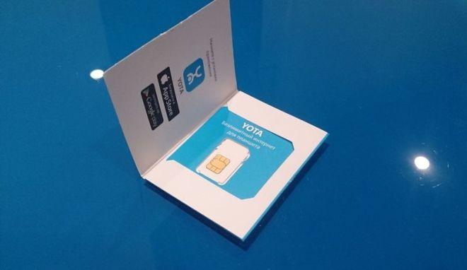 Упаковка сим-карты Йота