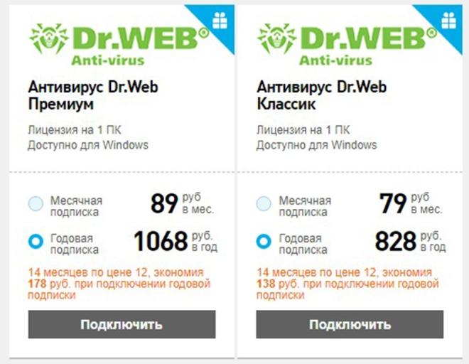 Пакеты Dr. Web от Ростелеком