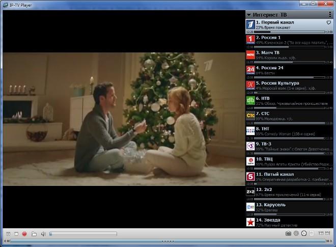Просмотр ТВ на IPTV Player