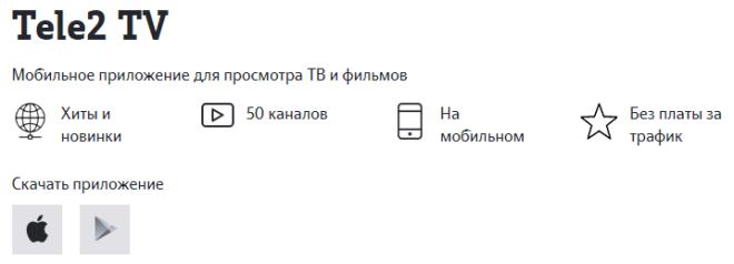 Описание услуги Теле2 ТВ