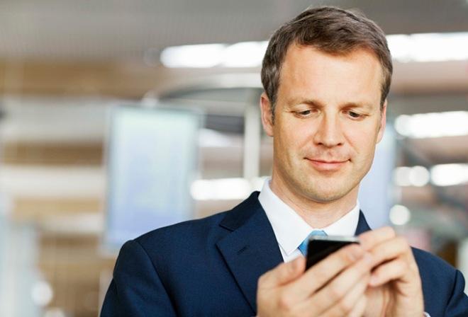 Бизнесмен с телефоном