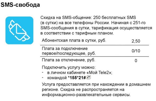 Опция «СМС-свобода»