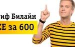 """Тарифный план """"Все за 600"""" от Билайн"""
