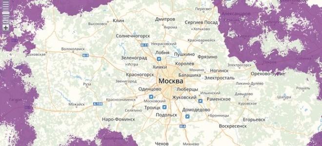 Какова зона покрытия у оператора Тинькофф Мобайл