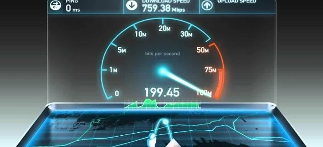 Измерение скорости интернета Yota с помощью Speedtest