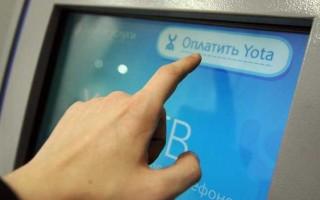 Как оплатить услуги Yota через Сбербанк онлайн
