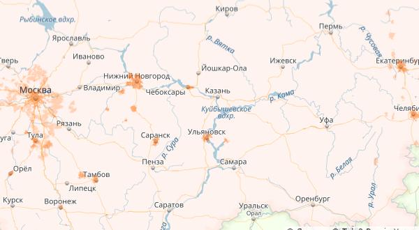 Карта охвата 4G