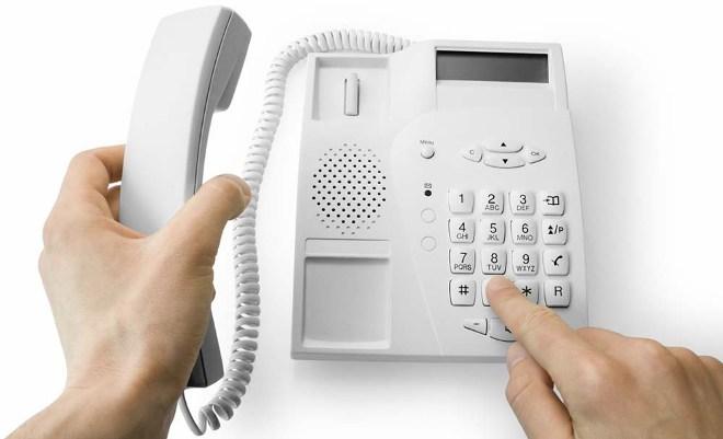 Звонок по стационарному телефону