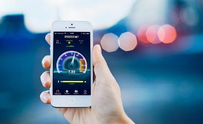 Измерение скорости интернета на мобильном телефоне