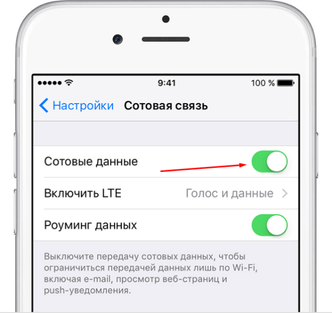 Включение роуминга в настройках телефона