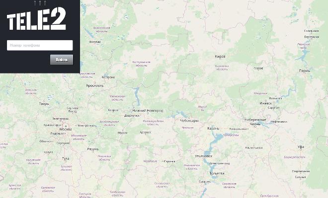 Поиск абонента по карте Теле2
